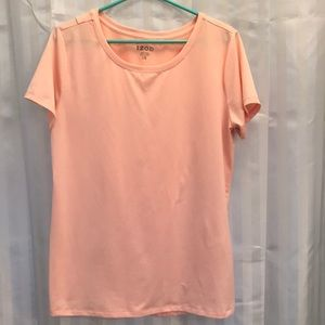 IZOD Woman's size Large peach short sleeve t shirt
